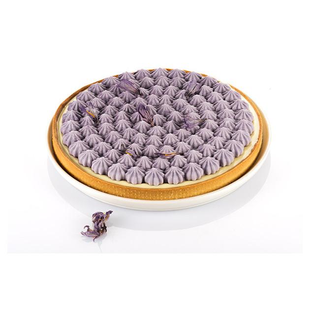 Tarte meringuee confectionnee avec le moule silicone Tarte Meringue Silikomart 3D Design