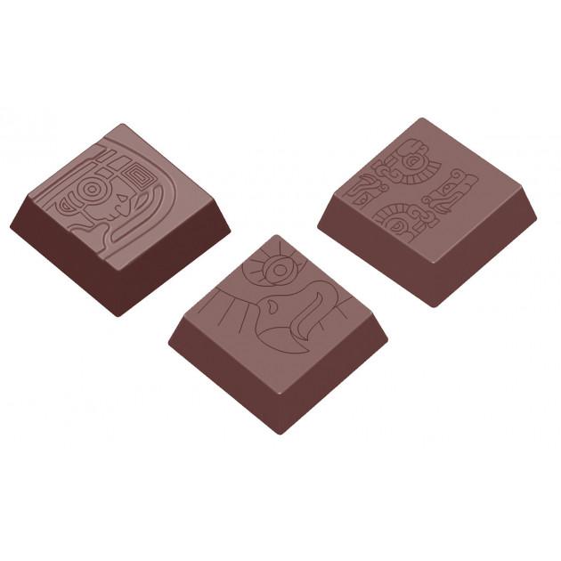 Moule Chocolat Carre Maya 34 mm (x18) Chocolate World