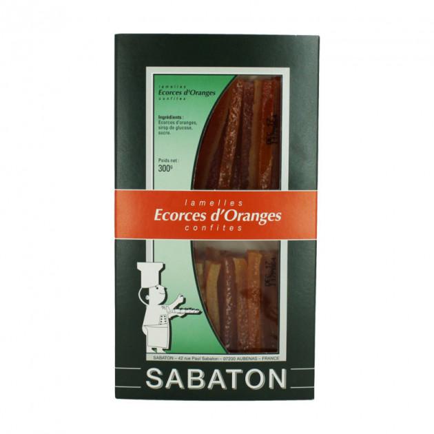 Ecorces Oranges Confites en Lamelles 150 g (x2) Sabaton