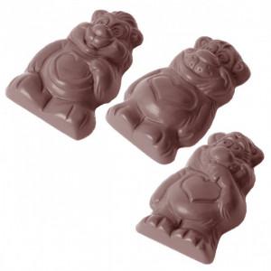 Moule Chocolat Bisounours 57,9 mm (x12) Chocolate World
