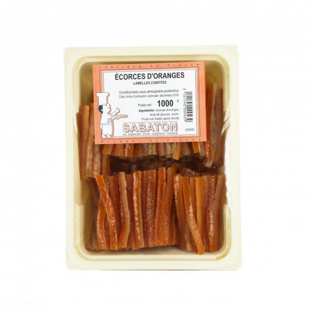 Ecorces Oranges Confites en Lamelles 1 kg Sabaton