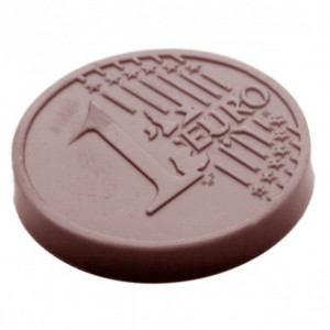 Moule Chocolat Pièce 1 Euro Ø 35 mm (x21) Chocolate World