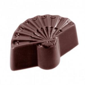Moule Chocolat Éventail 40 x 25 mm (x24) Chocolate World