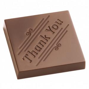 Moule Chocolat Carré Thank You Merci (x21) Chocolate World