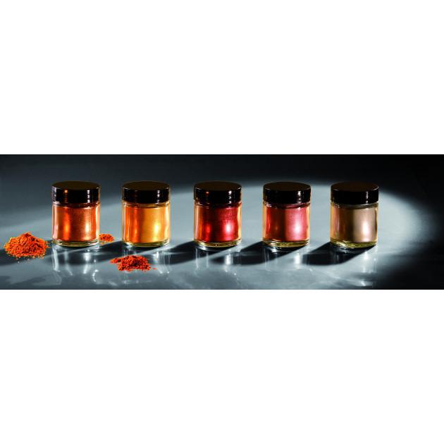 Colorant alimentaire Cuivre Rouge Poudre Scintillante