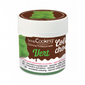 Colorant Alimentaire en Poudre Liposoluble Vert 5g Color'Choco Scrapcooking