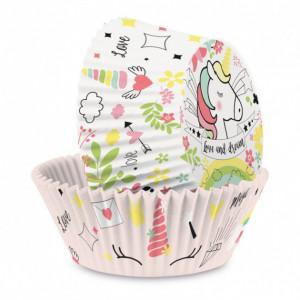 Caissette Cupcakes Licorne (x36) Scrapcooking
