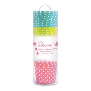 FIN DE SERIE Caissette Cupcakes Pois (x25) Scrapcooking