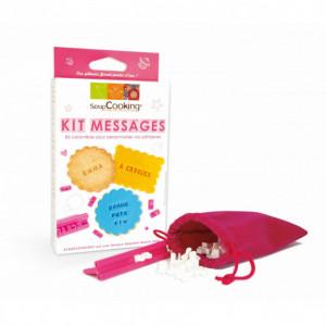 Kit Messages Biscuits Personnalisés 85 Emporte pièces Scrapcooking
