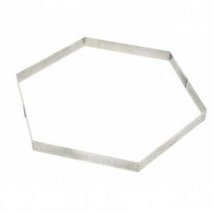 Cercle à Tarte Perforé Hexagone Ø20 cm De Buyer