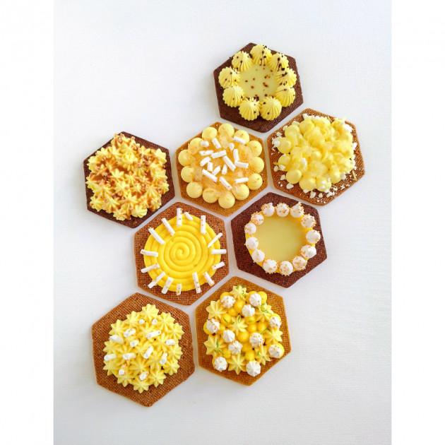 Cercle a Tarte Perfore Hexagone De Buyer disponible en plusieurs tailles