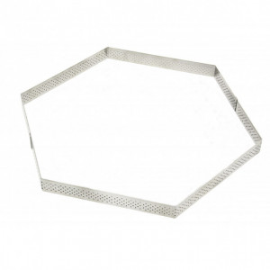 Cercle à Tarte Perforé Hexagone Ø24 cm De Buyer