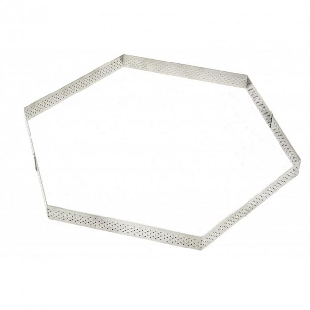 Cercle a Tarte Perfore Hexagone Ø24 cm De Buyer