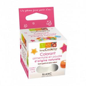 Colorant Alimentaire Naturel en Poudre Blanc 10g Scrapcooking