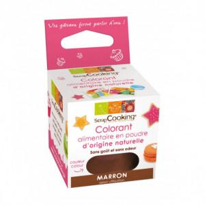 Colorant Alimentaire Naturel en Poudre Marron 10g Scrapcooking