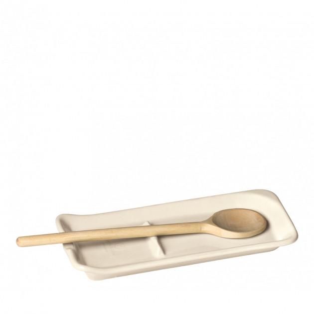Repose Cuillere Ceramique Argile 22.5 x 10 cm Emile Henry (Support vendu sans la cuillere en bois)