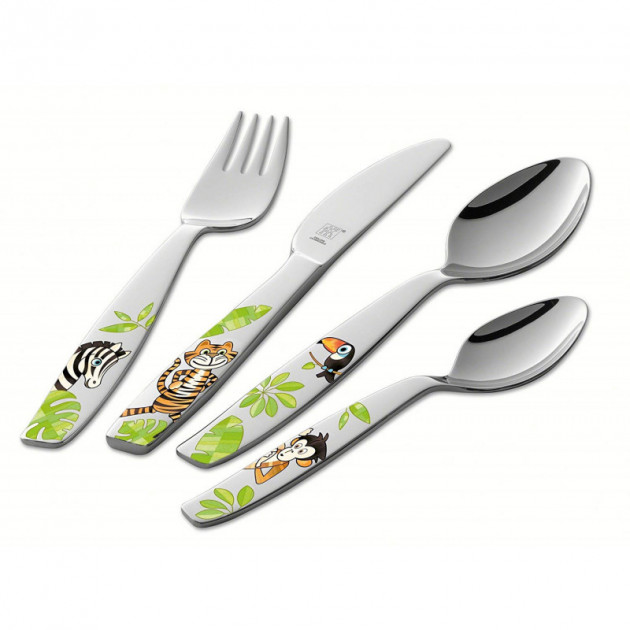 Couverts Enfant Inox Jungle 4 Pieces Zwilling