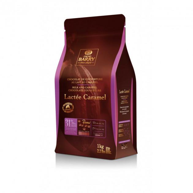 Lactee Caramel. Pistoles Chocolat Couverture 31.2 % 1 kg Barry