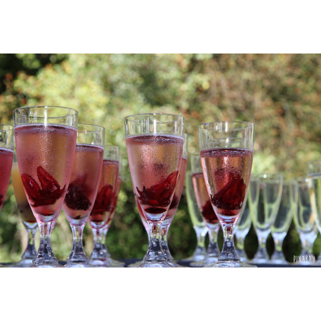 Fleur Hibiscus confite pour champagne