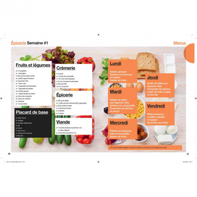 Idees de menus semaine lunch box epicerie