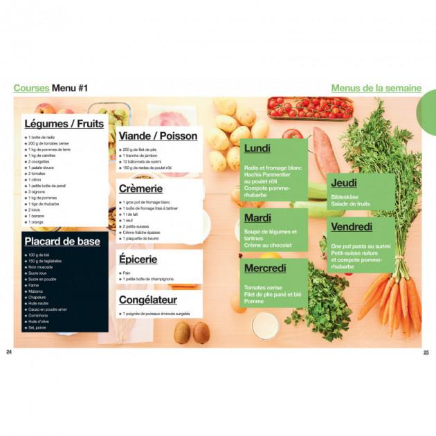 Liste de courses et menus pour le semaine pour enfants