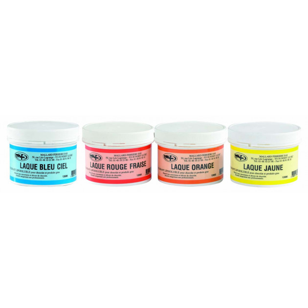 Differents coloris de la gamme Colorants Liposoluble en 60g