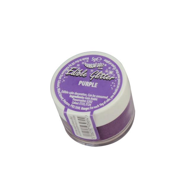Pot de paillettes comestibles Violettes