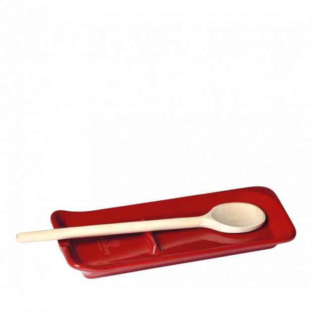 Repose Cuillere Ceramique Grand cru 22.5 x 10 cm Emile Henry (Support vendu sans la cuillere en bois)