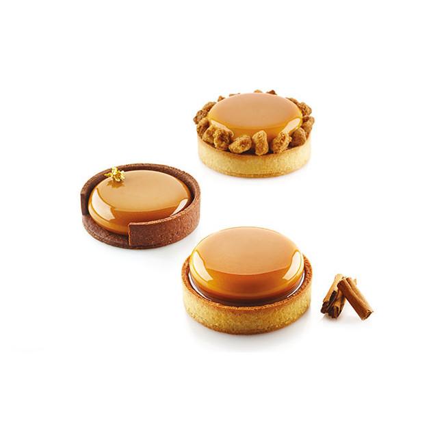 Tartelettes realisees avec le moule silicone Silikomart Professional