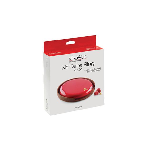 Packaging du kit tarte 19 CM: moule silicone et cercle a tarte