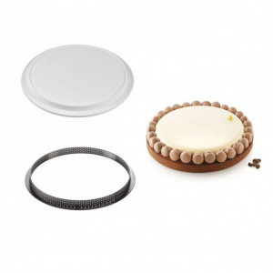 Kit Moule Silicone 1 Tarte Ø 250mm Silikomart Professional