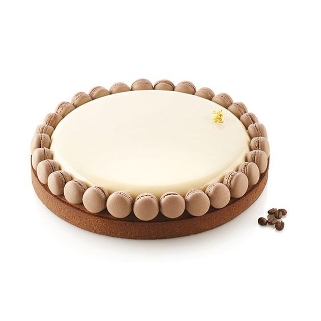 Tarte chocolat realisee avec le moule silicone Silikomart Professional