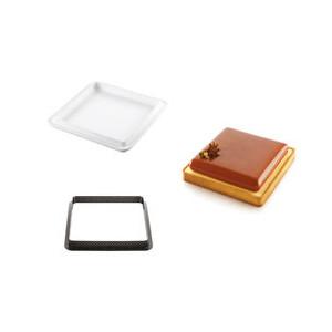 Kit Moule Silicone 1 Tarte Carrée 200mm Silikomart Professional