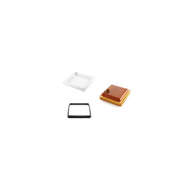 Kit Moule Silicone 1 Tarte Carree 200mm Silikomart Professional