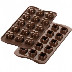 Moule à Chocolat 15 Choco Game Easy Choc - Silicone Spécial Chocolat