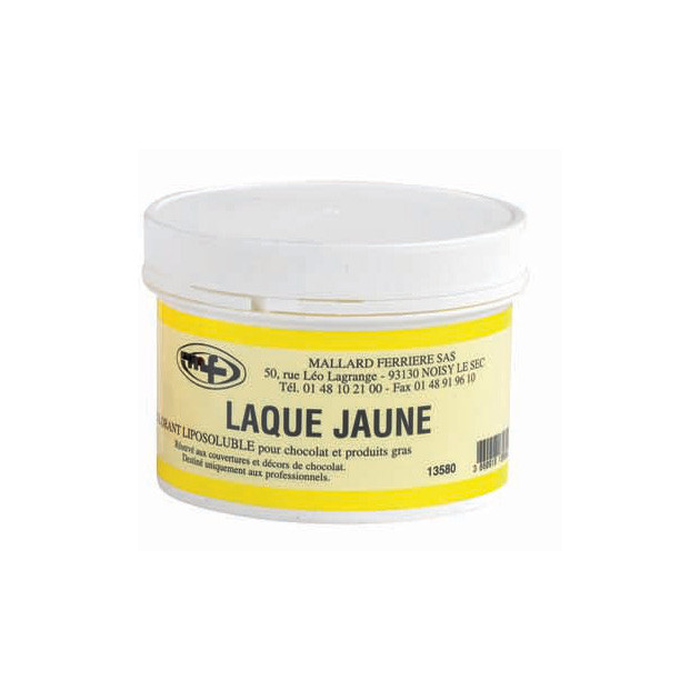 Colorant alimentaire Jaune E104 Poudre Liposoluble 60g