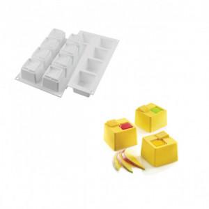 Moule Silicone 8 Cubes Kuadro 6 x 6 cm 150ml SilikoMart Professional