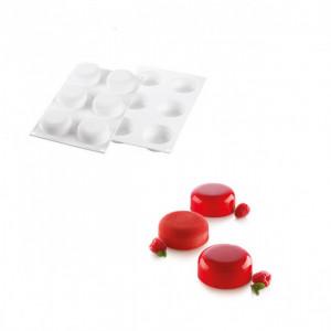 Moule Silicone 6 Minis Moules à Manqué Ø67 x h27 mm 90ml SilikoMart Professional