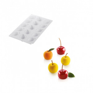 Moule Silicone 15 Mini Pommes Ø39 x h30 mm 30ml SilikoMart Professional
