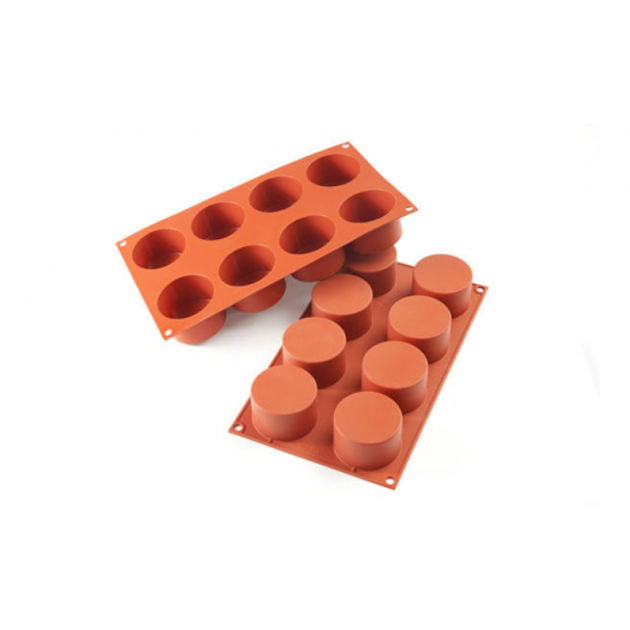 Moule 8 Cylindres en Silicone
