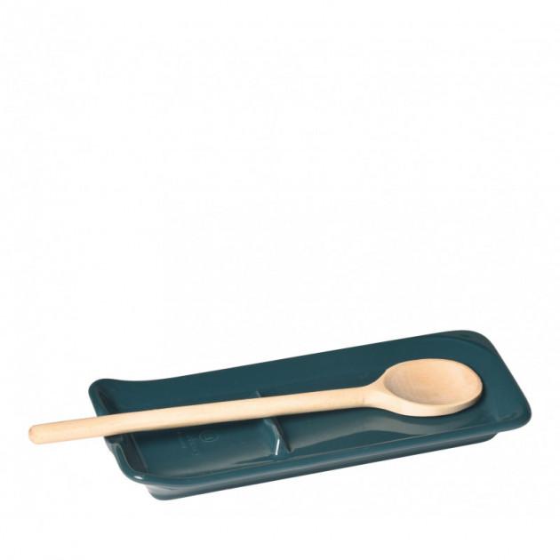 Repose Cuillere Ceramique Feu Doux 22.5 x 10 cm Emile Henry (Support vendu sans la cuillere en bois)