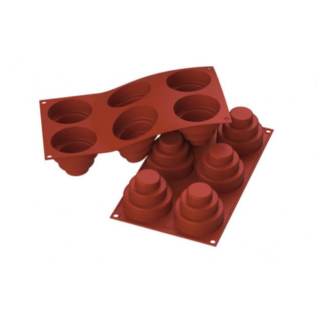 Moule 6 Domes a Etages en silicone