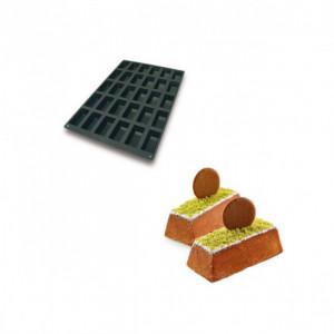 Moule Silicone 30 Mini Cakes 9,9 x 4,9 cm 130ml SilikoMart Professional