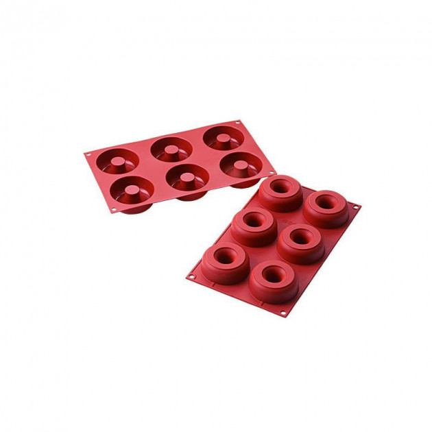 Moule 6 Donuts en Silicone