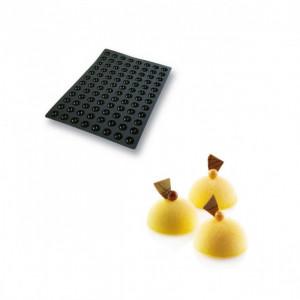 Moule Silicone 96 Demi-sphères Ø3,5 x 1,75 cm 11ml SilikoMart Professional