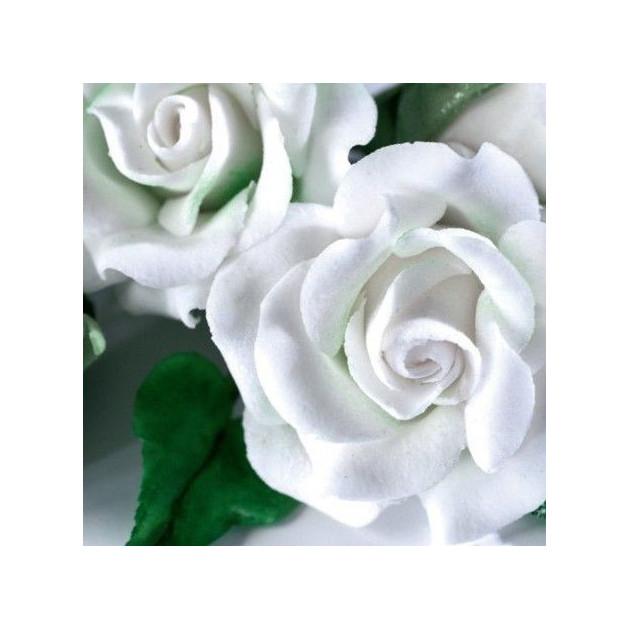 Fleurs en Gum Paste Blanc vue de pres