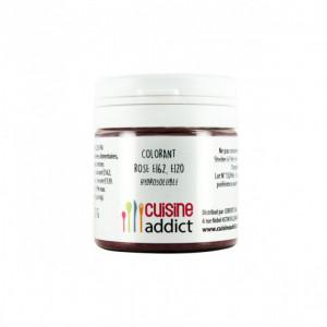 Colorant alimentaire Rose E162/E120 Poudre Hydrosoluble 25 g Cuisineaddict
