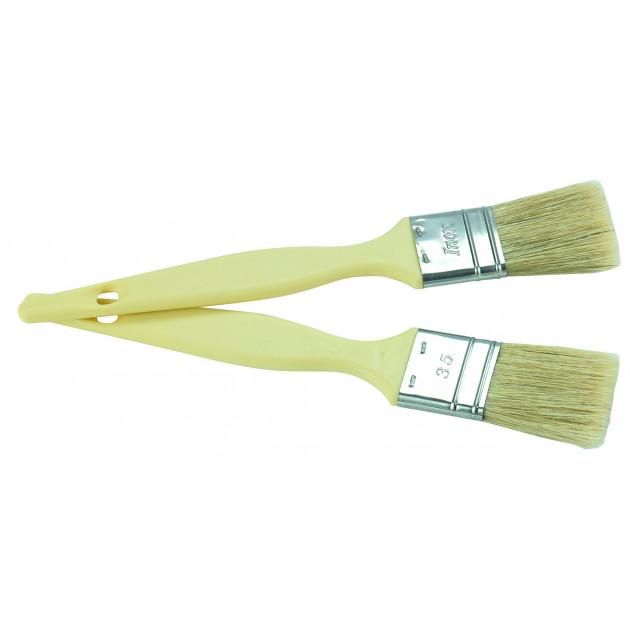 Pinceau Plat Poils Longs 4.5 cm Manche Plastique