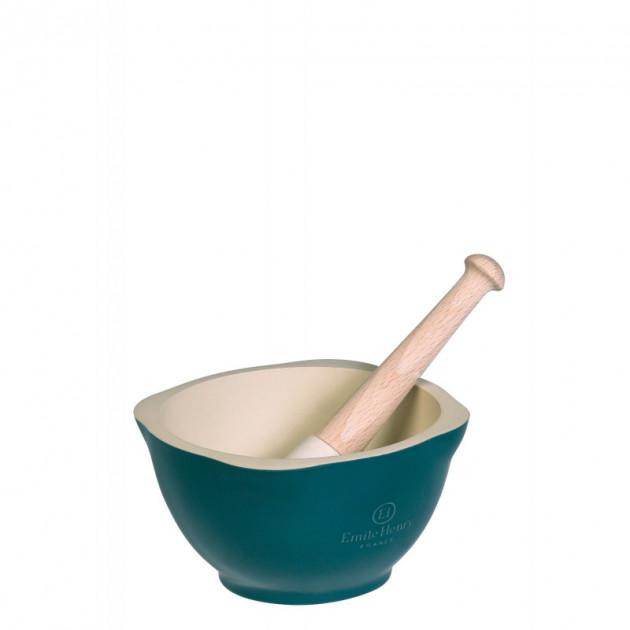 Mortier Pilon Ceramique Feu Doux Ø 14 cm Emile Henry