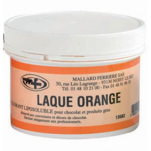 Colorant alimentaire Orange E110 Poudre Liposoluble 60g